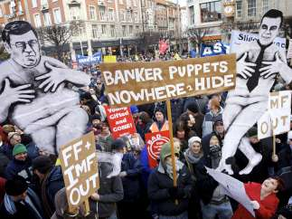 Protestas en Irlanda