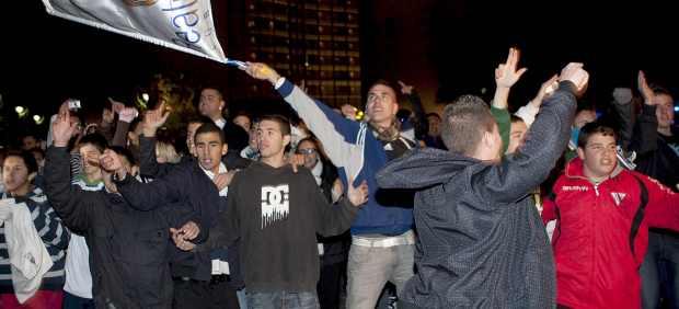 Aficionados del Real Madrid en Barcelona (EFE)