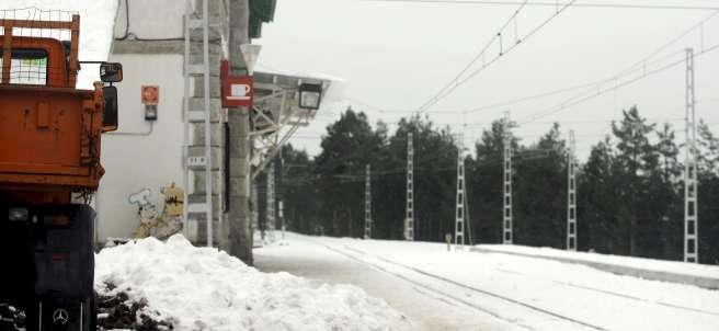Nieve en la sierra madrileña