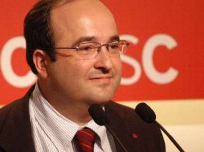 El viceprimer secretario y portavoz del PSC, Miquel Iceta.