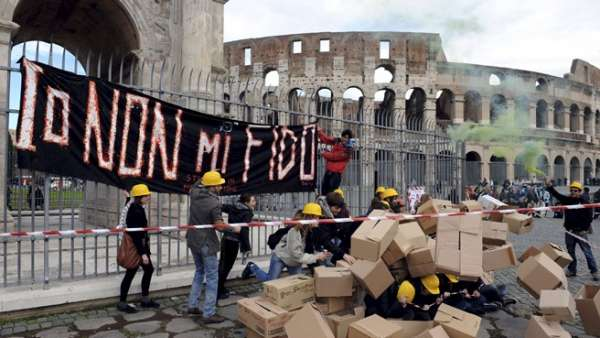 Pompeya se derrumba por las lluvias