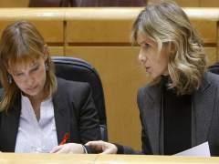 Leire Pajín y Cristina Garmendia