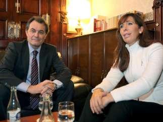 Alicia Sánchez-Camacho y Artur Mas.