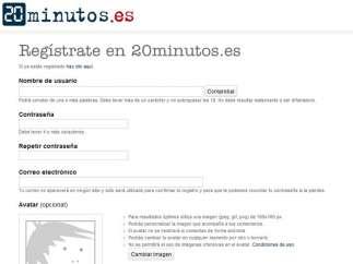 Registros en 20minutos.es