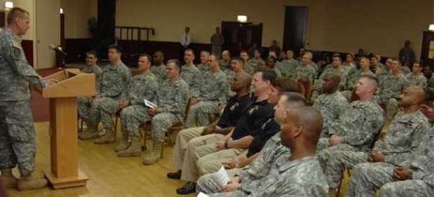 Un grupo de soldados estadounidenses