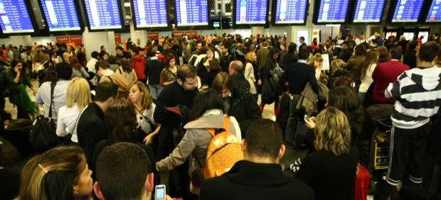 Cierran el aeropuerto de Barajas