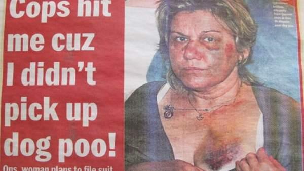 Anna Stanczyk, agredida por la Policía de Nueva York