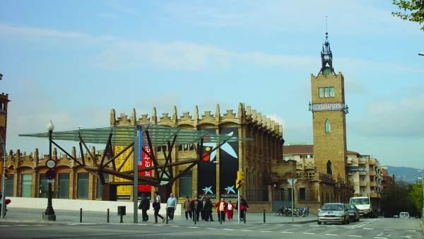 El edificio del CaixaForum de Barcelona.