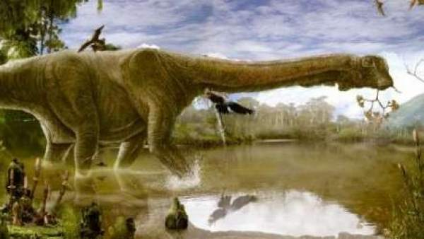 Recreación del dinosaurio Tastavinsaurus sanzi