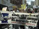 Manifestación a favor de Assange