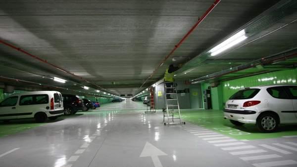 'Parking' en Serrano.