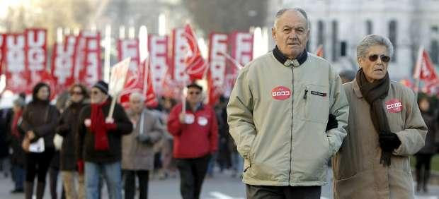 Marcha contra el aumento de la edad de jubilación