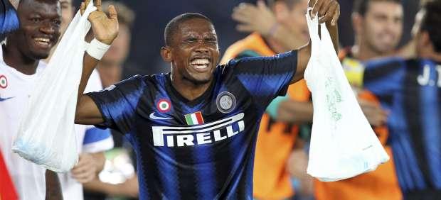 Samuel Eto'o con el Inter