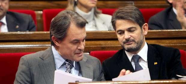 Artur Mas y Oriol Pujol.