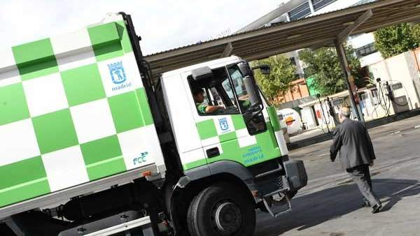 Un camión de la basura de Madrid