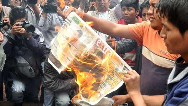 Protestas contra Morales
