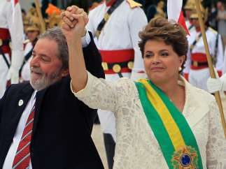 Dilma Rousseff y Lula