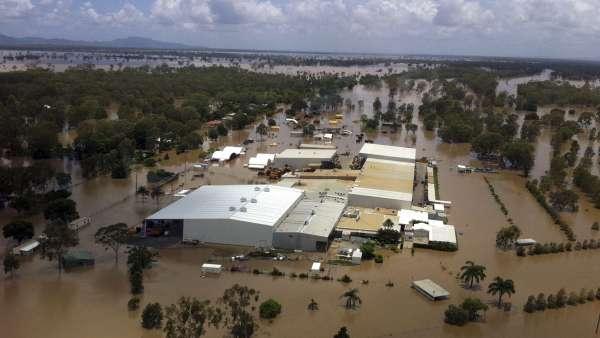 Zona inundada en la localidad de Rockhampton