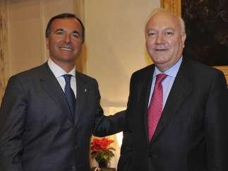 Miguel Ángel Moratinos y Franco Frattini
