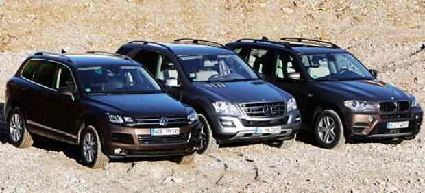 BMW X5, Mercedes ML, VW Touareg
