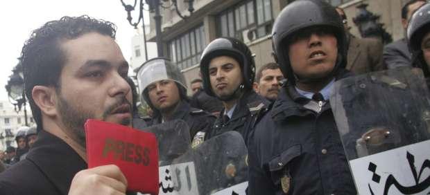 Manifestación en Túnez