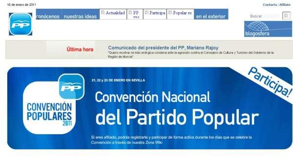 Web del PP