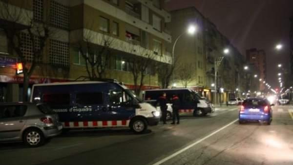 Los Mossos intensifican su presencia en Salt (Girona).