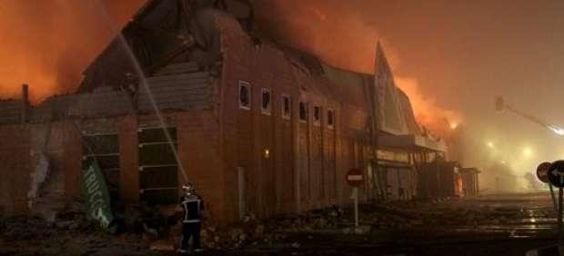 Incendio en Leroy Merlin de Majadahonda