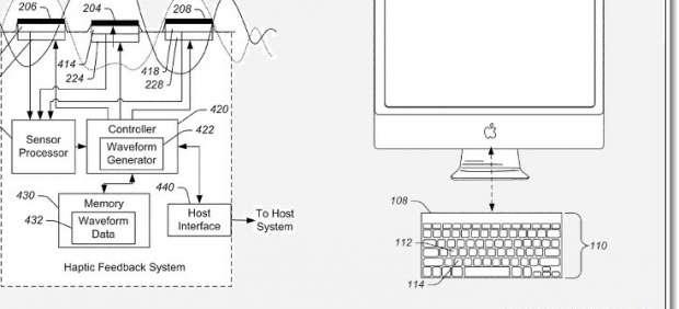 Apple patenta un teclado virtual que cambia de forma según el programa utilizado