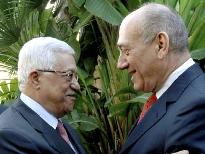 Abás y Olmert