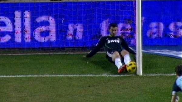 Gol fantasma en el Sevilla-Real Madrid