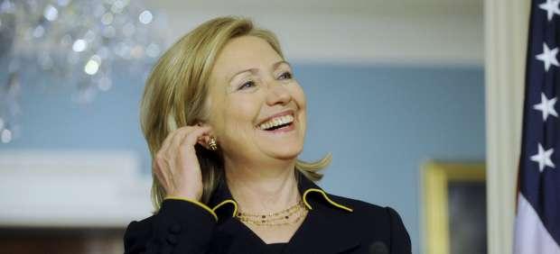 Hillary Clinton, en rueda de prensa