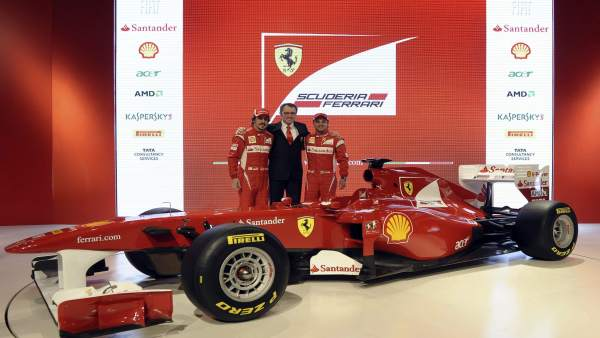 Alonso, Massa y Domenicali