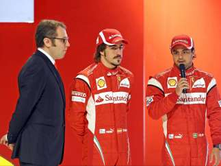 Alonso y Massa, juntos