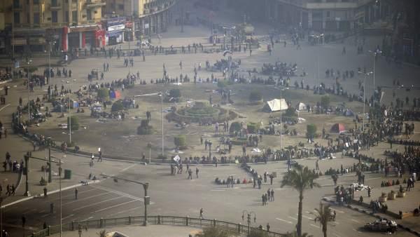 La plaza de la Liberación, en El Cairo