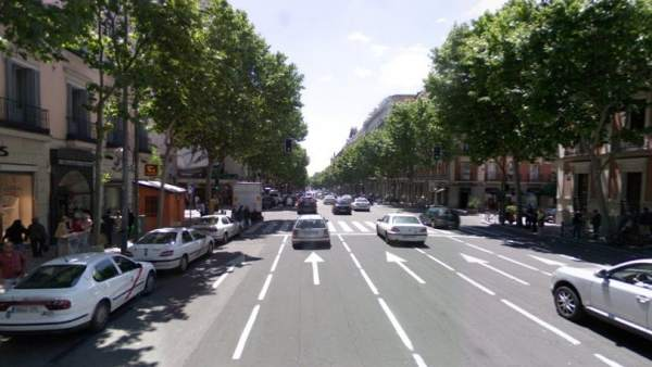 Calle Serrano, en Madrid