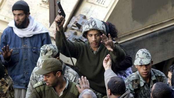 Un soldado egipcio