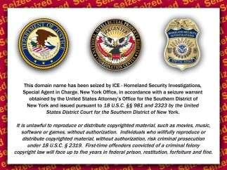 Mensaje de la Oficina de Inmigración y Aduanas