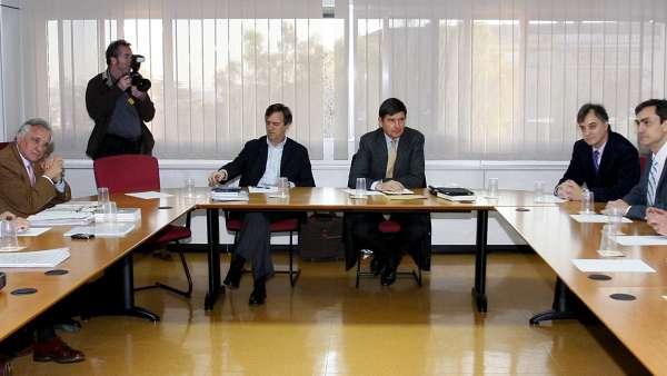 Reunión de USCA y Aena con Manuel Pimentel en la comisión negociadora del II convenio colectivo.