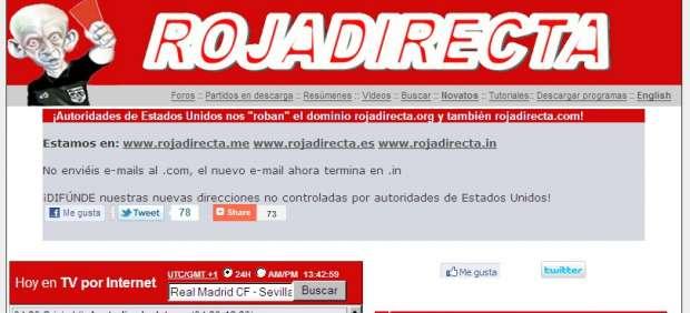 """Una orden judicial obliga a Rojadirecta a dar """"las llaves"""" de su web a un perito de Canal +"""