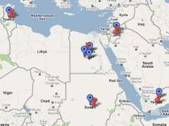 Mapa de la revoluci�n �rabe