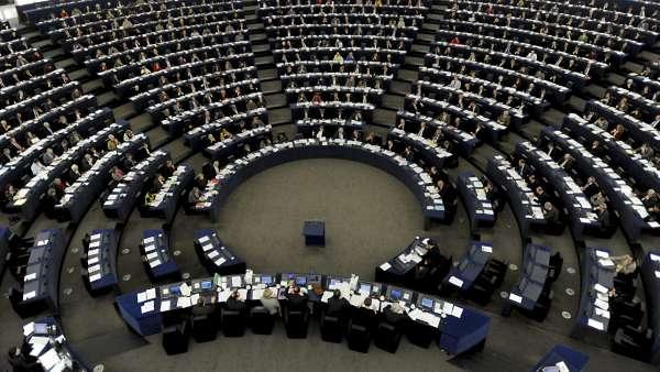 Interior de la sede del Parlamento Europeo.