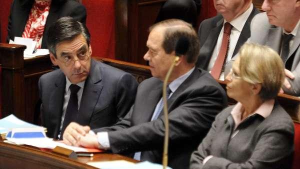 François Fillon y Michele Alliot-Marie