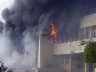 Incendio en Puerto Saíd