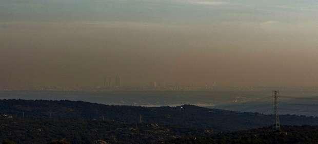 Madrid con y sin contaminación