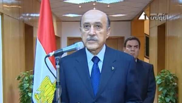 Suleimán anuncia la dimisión de Mubarak