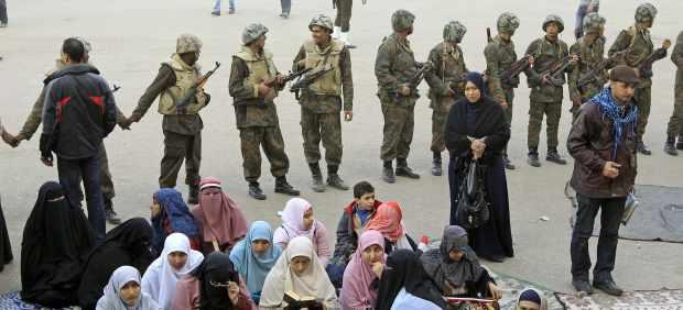 Egipcias en Tahrir