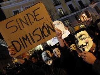 Manifestación contra la ley Sinde