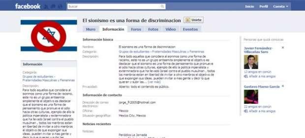 Facebook cierra 'Odia a Israel', un grupo que contaba ya con más de 300.000 seguidores