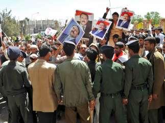 Manifestaciones en Yemen
